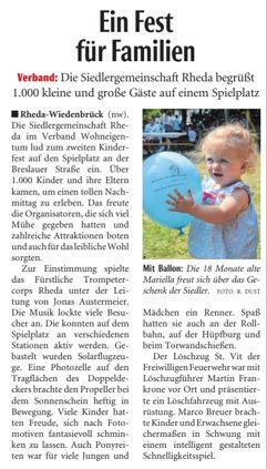 Kinderfest Pressebericht NW