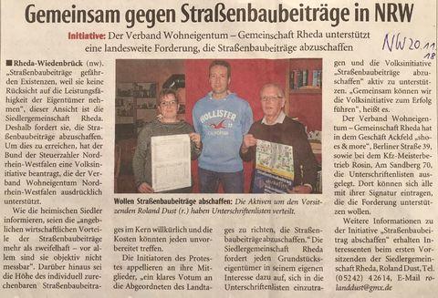 Presseartikel Strassenbau