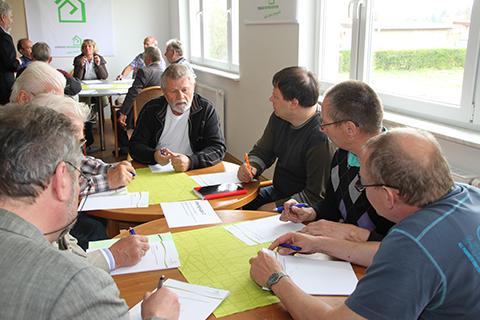 Rege Diskussionen in den Arbeitsgruppen