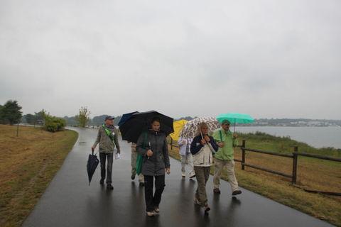 Auf dem Rundweg um den Markkleeberger See.