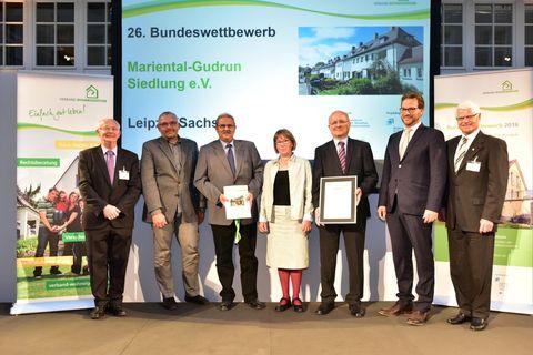 Auszeichnung der Mariental-Gudrun-Siedlung e.V.