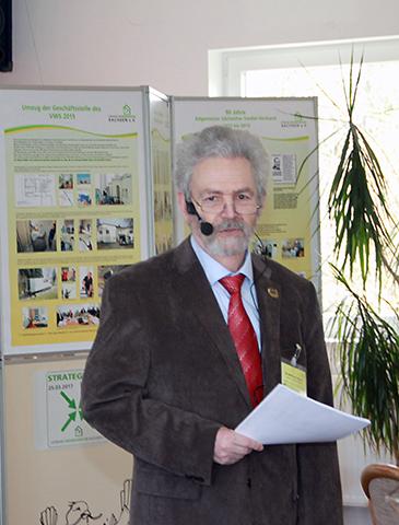Die Begrüßung der Gäste und Teilnehmer übernahm unser Landesvorsitzenden <strong>Sfrd. Dr. Wolfram Heine</strong>.
