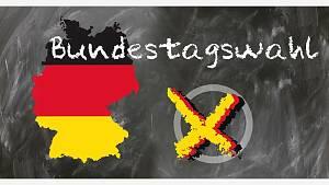 Karte der BR Deutschland in Flaggenfarben