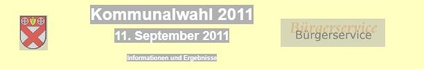 Kommunalwahl 2011