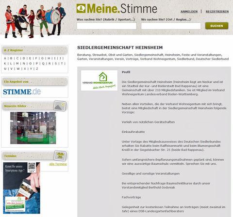 Siedlergemeinschaft Heinsheim bei Meine.Stimme.de