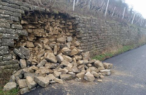 Weinbergmauer eingestürzt
