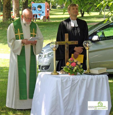 Pfarrer Link (kathl.) und Pfarrer Fritsch (evgl.)