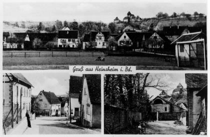 Postkarte Heinsheim in Baden