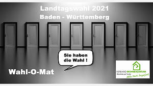 Wahl-O-Mat zur Landtagswahl in Baden Württemberg am 14. März 2021