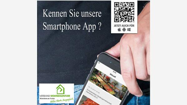 Themenbild: Smartphone-App des Verband Wohneigentum Heinsheim am Neckar