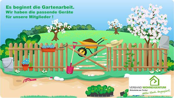 Themenbild: Geräteliste des Verband Wohneigentum Heinsheim am Neckar