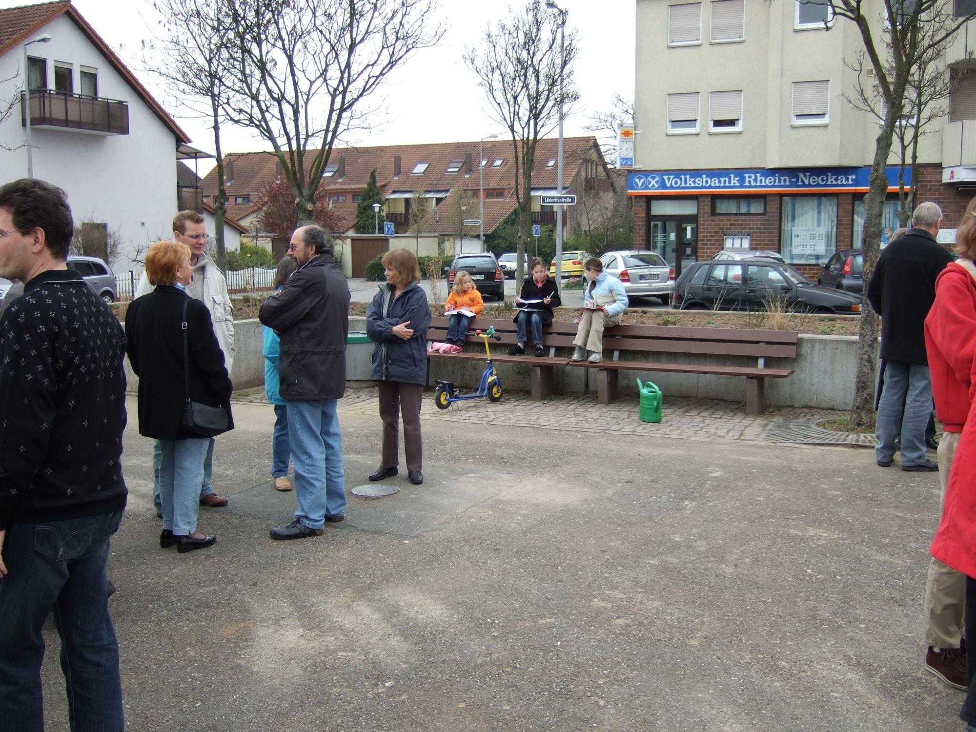 Einweihung Marktplatz Rheinau-Süd 310307_8