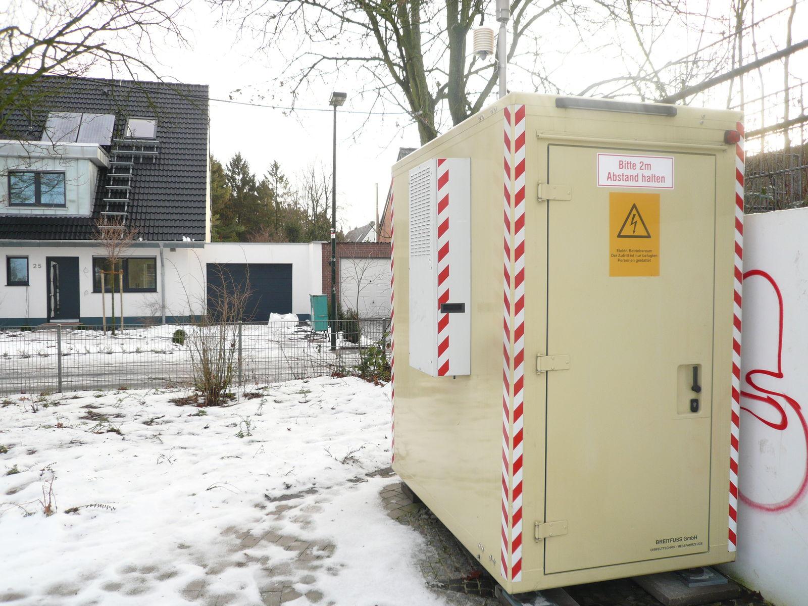 Aufstellung LANUV-Meßcontainer