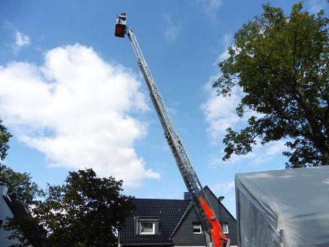 Feuerwehrleiter auf dem NBT 2015