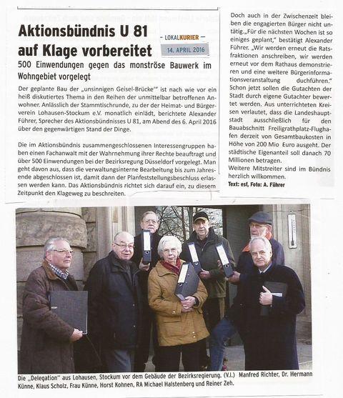 Delegation Aktionsbündnis U81
