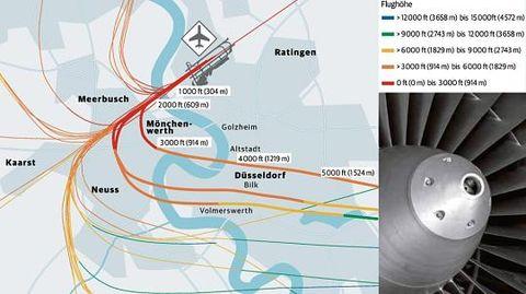 DUS Jets weichen wegen Gewittersturm aus
