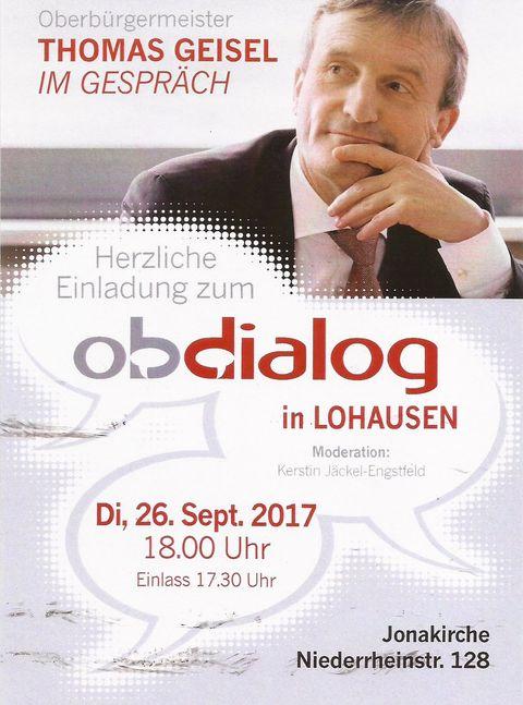 OB-Dialog in Lohausen