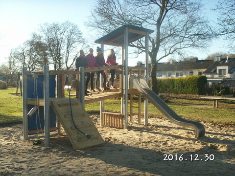 Klettergerüst Spielplatz : Neues klettergerüst auf dem spielplatz verband wohneigentum e v
