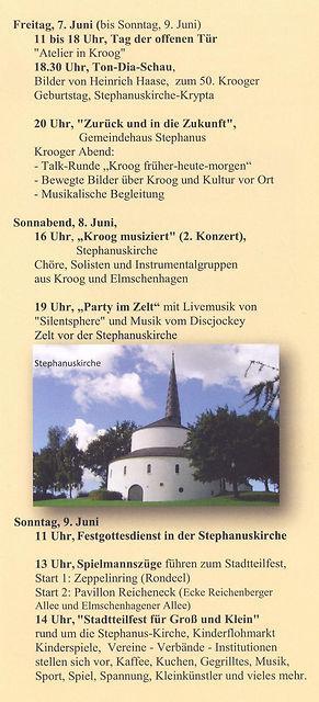 100 Jahre Siedlung Kroog Programm Teil 3