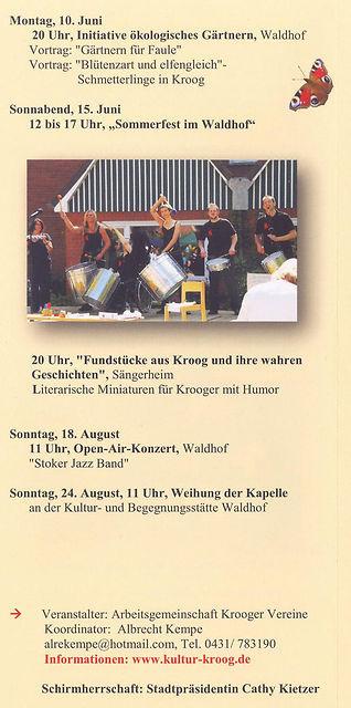 100 Jahre Siedlung Kroog Programm Teil 4