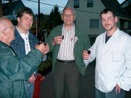 Helmut, Peter, Alfred und Metzger Torsten