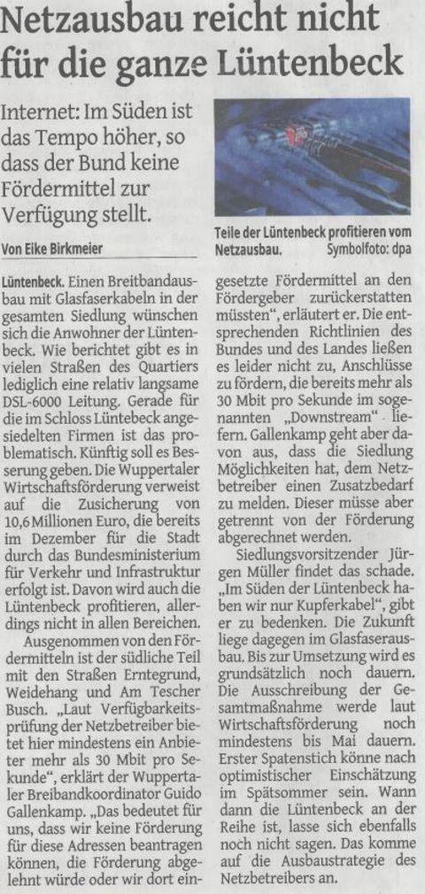 WZ Bericht für den Breidbandausbau 15.02.2018