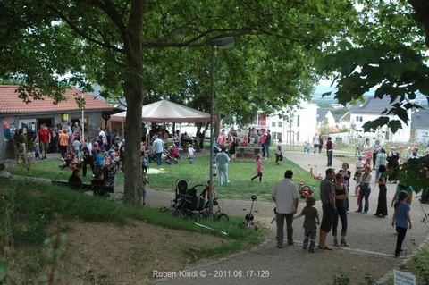 Blick auf das Vereinsgeländer der Siedlergemeinschaft Am Großberg