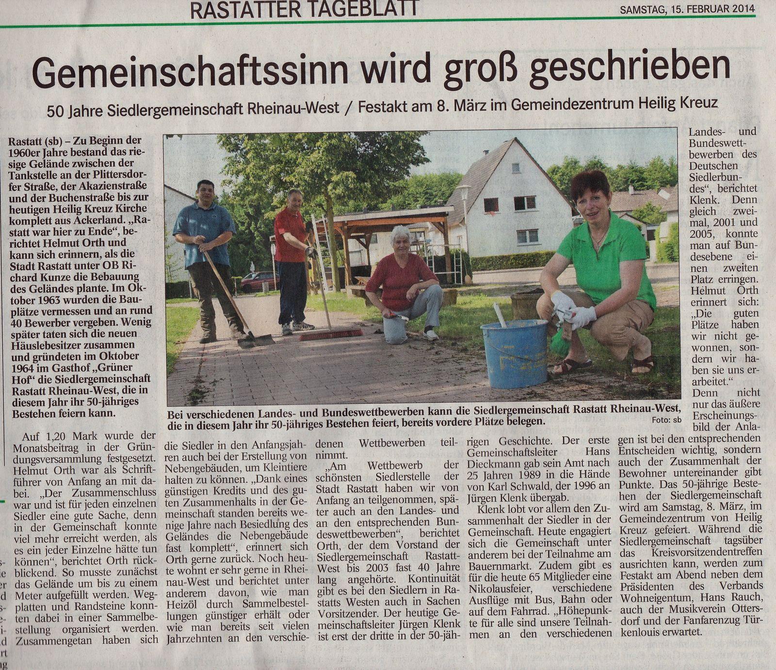 Bericht BT SG Rastatt-Rheinau-West