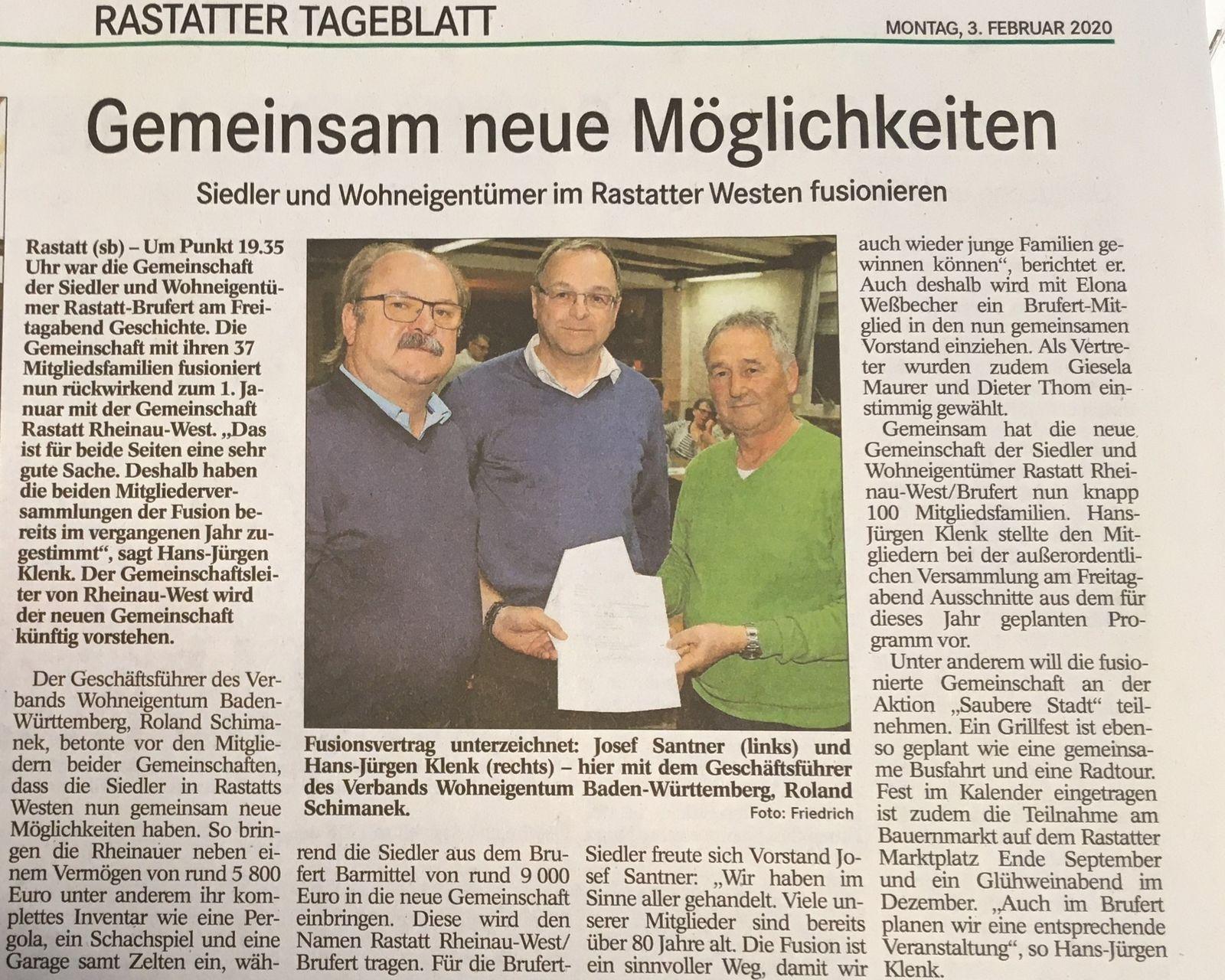 Fusion Gemeinschaft Brufert und Rheinau-West