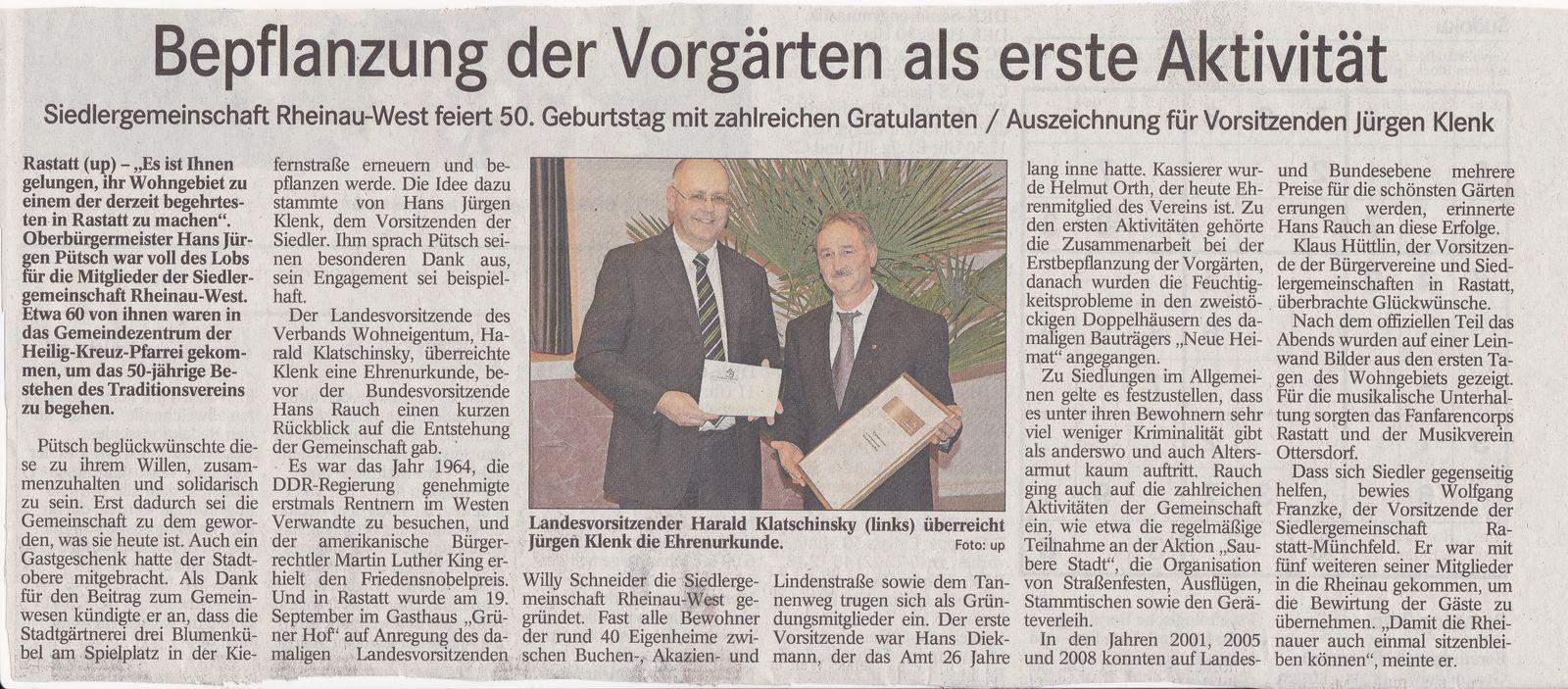 Jubiläumfeier SG Rastatt-Rheinau-West
