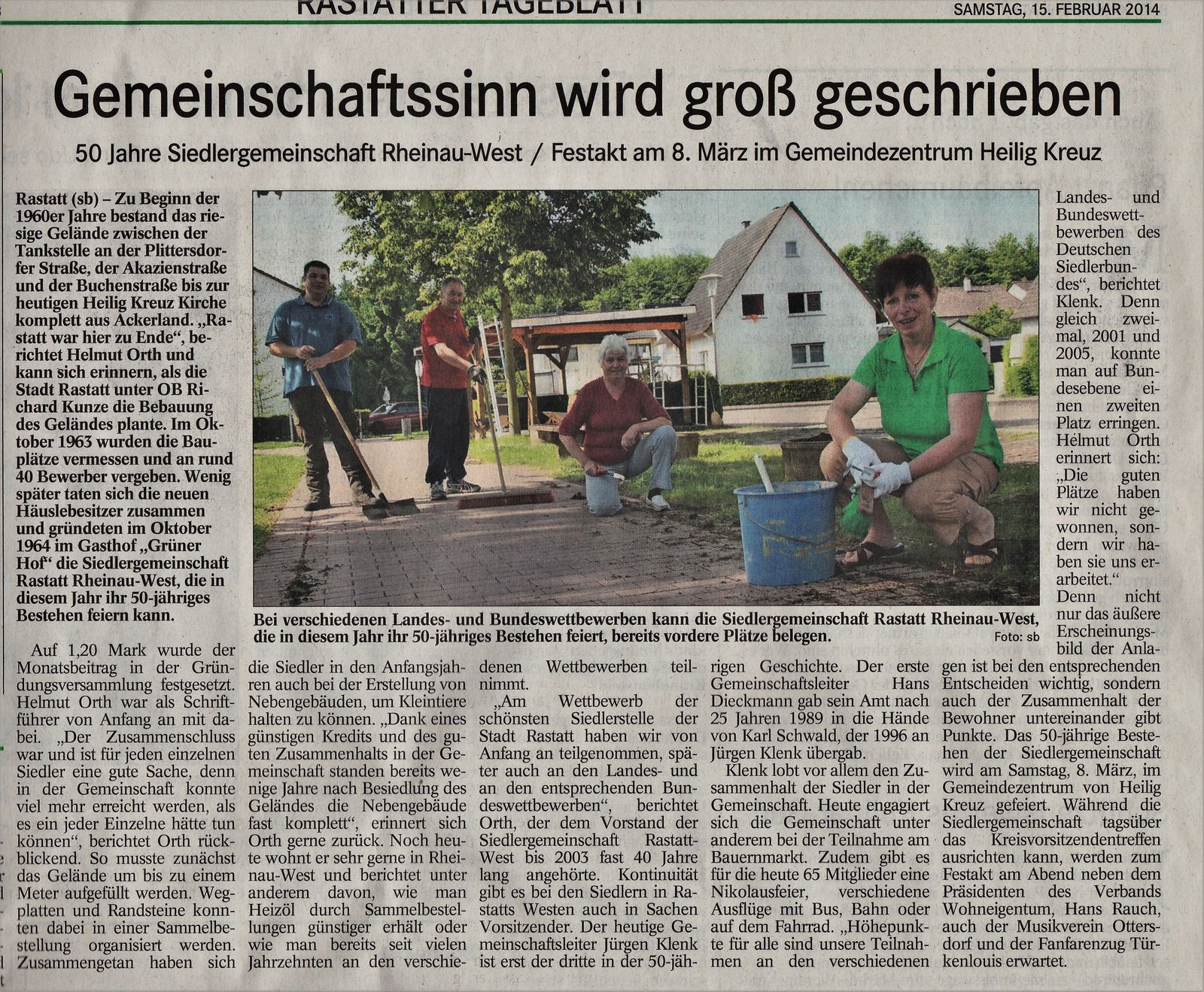Bericht SG Rastatt-Rheinau-West