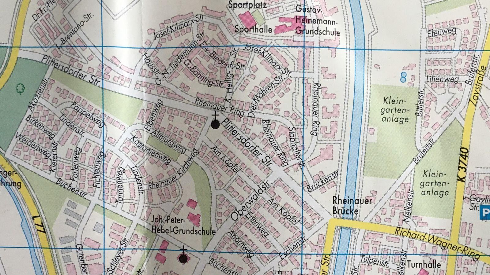 Lageplan Rheinau-West/Brufert