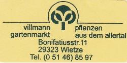 Villmann Gartenmarkt, Wietze, Bonifatiusstr. 11