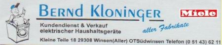 B. Kloninger, Winsen/A., Kleine Teile 18