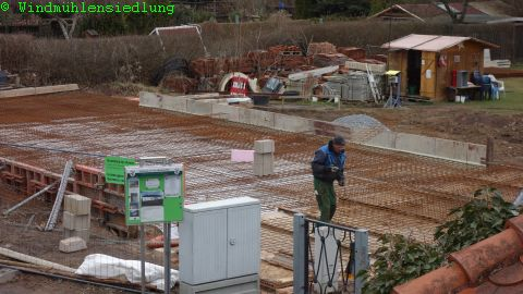 Vorbereitung Grundplatte gießen