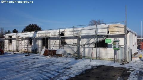 Januar - trotz Schnee keine Ruhepause auf der Baustelle!