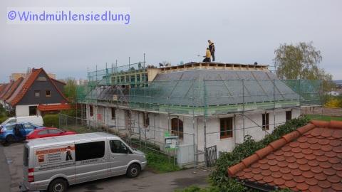 Der Dachstuhl ist fertig!