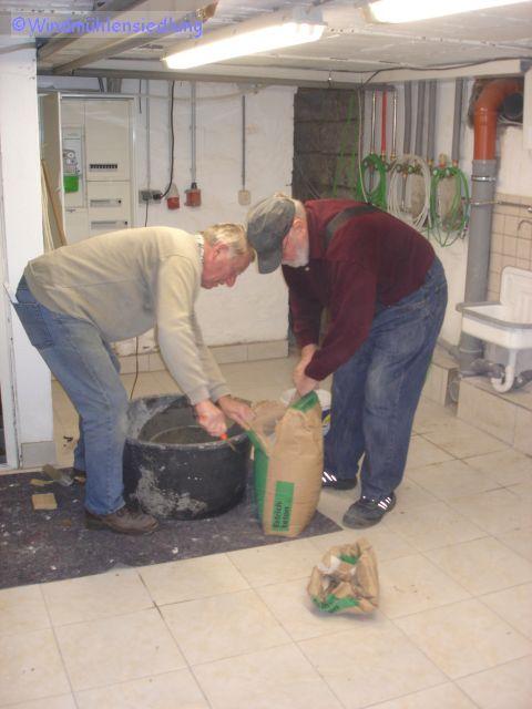 Werner und Rainer bauen im