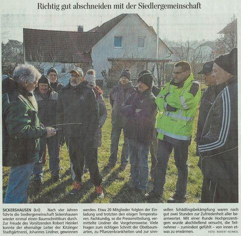 Pressebericht Die Kitzinger vom 08.03.2018