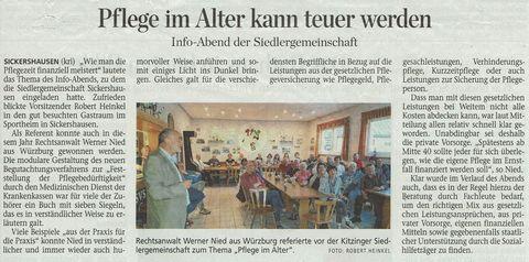 Pressebericht Die Kitzinger vom 05.05.2018