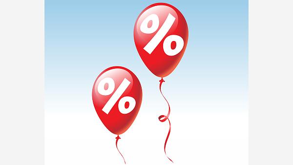 Themenbild: Luftballon Aufdruck Prozente