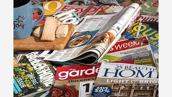 Themenbild: Magazine Zeitschriften Flyer