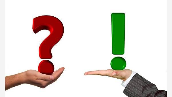 Themenbild: Hände Frage Antwort