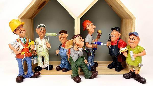 Themenbild: Handwerker im Haus!