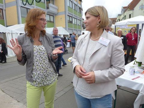 Im Gespräch: Sabine Bätzing-Lichtenthäler und Michaela Jindra