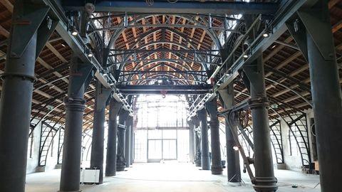 Die Gießhallen-Konstruktion von innen