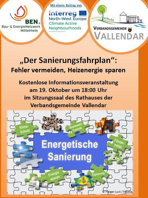 Poster Sanierungsfahrplan Vallendar
