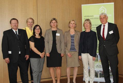 Manfred Stiebitz, Gabi Wieland MdL, Bianca Klein (FM), Michaela Jindra, Petra Uertz (Bundesgeschäftsführerin VWE), Doris Ahnen(FM), Helmut Weigt